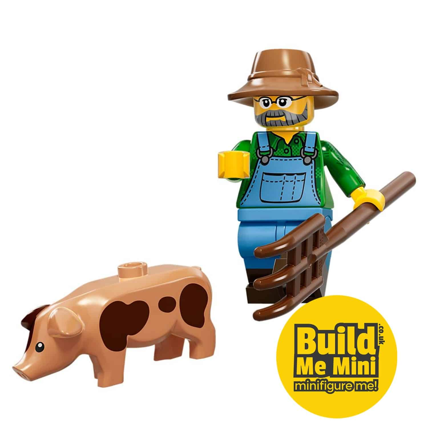 LEGO Farmer and Pig Minifigure Series 15