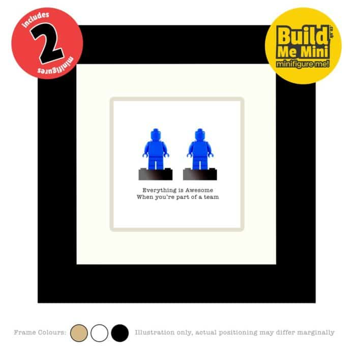 Framed Personalised Minifigures made from LEGO® parts (Double)