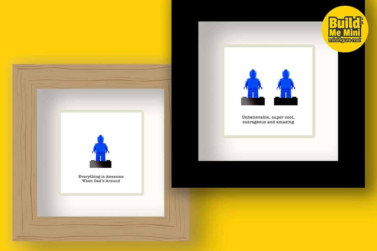 Personalised Lego Minifigures, Framed or Displayed
