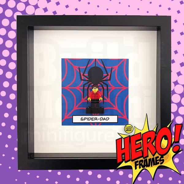 SpiderBrick Superhero Minifigure Frame For Mum or Dad LEGO Fans