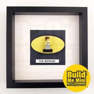 The BatBrick Superhero Minifigure Frame For Mum or Dad LEGO Fans