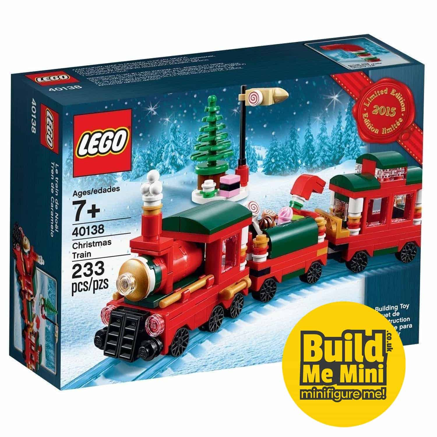 Christmas Train Set.2015 Limited Edition Lego Christmas Train Set 40138