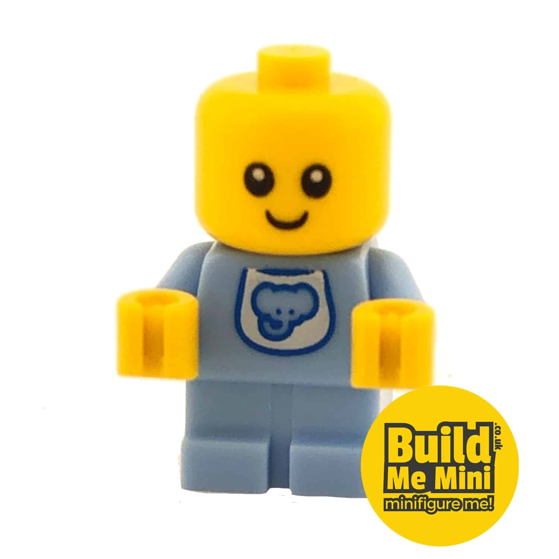 Lego Minifigure Baby – Baby Blue Bib Torso