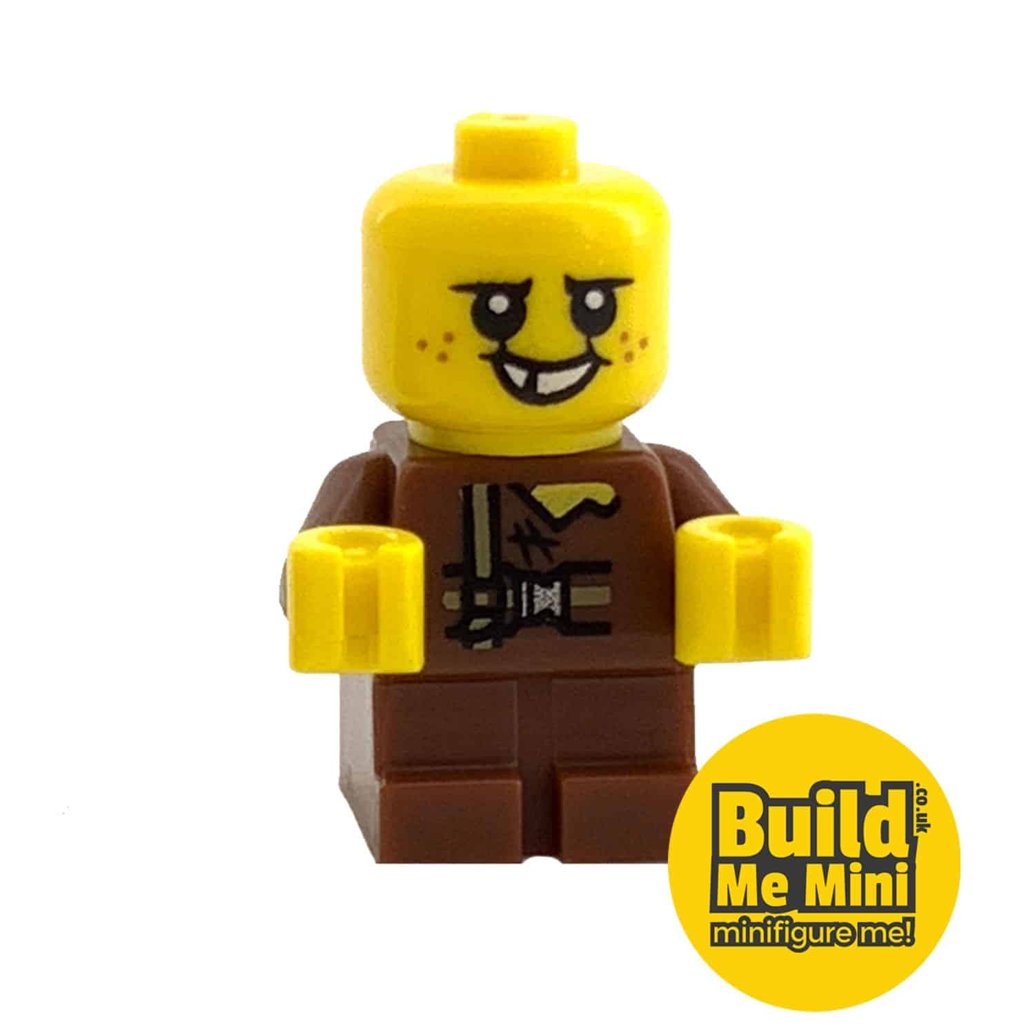 Lego Minifigure Baby – Brown Torso – Freckles