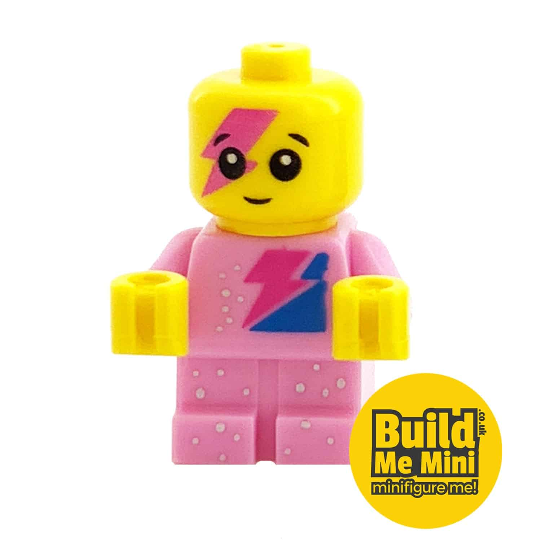 Lego Minifigure Baby – Pink Sparkle Torso