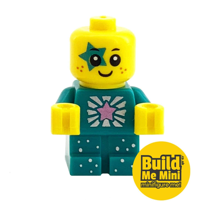 Lego Minifigure Baby – Teal Sparkle Torso