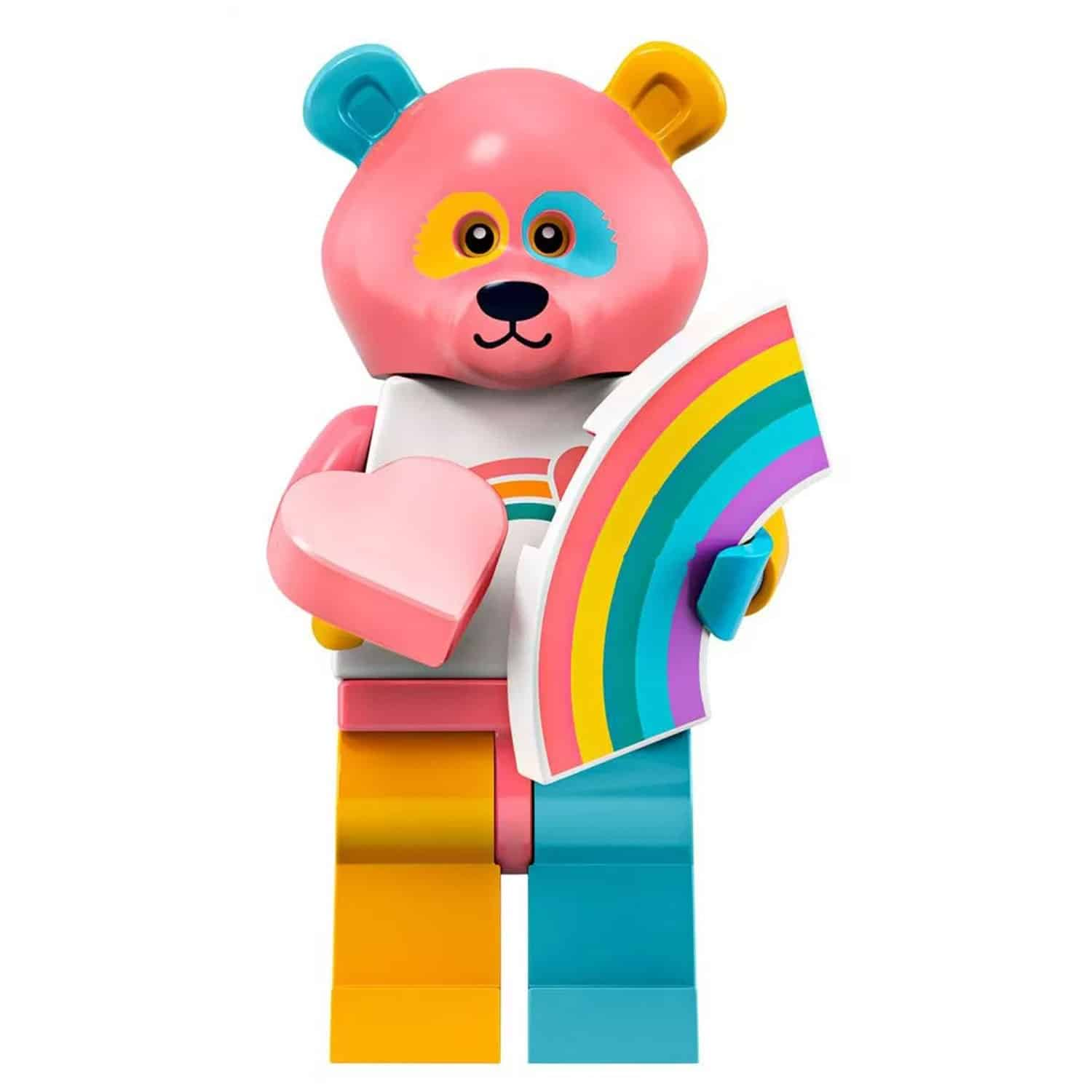 LEGO Rainbow Bear Minifigure with Rainbow – Series 19 CMF