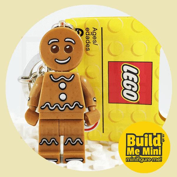 LEGO Christmas Gingerbread Man Minifigure Keychain