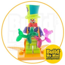 LEGO Series 18 CMF Clown Balloon Man Suit Minifigure