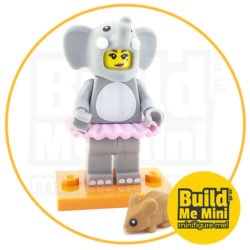 LEGO Series 18 CMF Elephant Suit Girl with Mouse