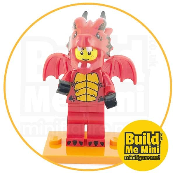 LEGO Series 18 CMF Red Dragon Suit Guy Minifigure